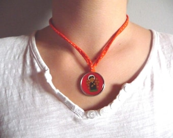 Mexican Orange - child medal necklace