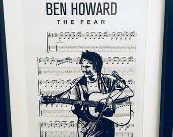 Ben Howard sheet music art