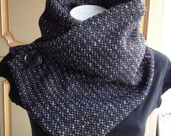 No-knit cowl-neck winter