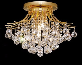 "Gold/Silver Chandelier (19""W x 16""H)"