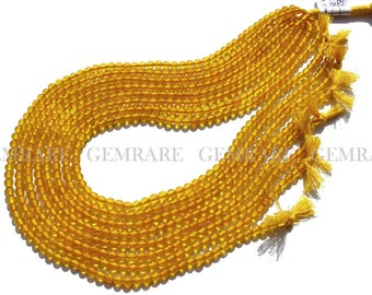 Yellow Chalcedony beads, Round Smooth beads, Quality AAA, 4.50 mm, 36 cm, 82 pieces, CHALCEDON-008/1, Semiprecious Stone, craft supplies