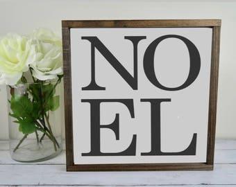Noel Wood Sign | 12x12 | Hand Painted | Framed | Christmas | Jesus