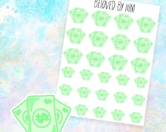 M30 - Payday / Money - Hand drawn pastel planner stickers