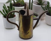 Vintage Small Brass Watering Can, Brass Watering Can, Outdoor Indoor Watering Can, Vintage Brass Decor, Garden, Rustic Decor, German can