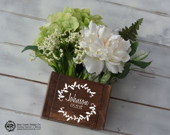 Wedding Centerpiece / Wedding Decor / Wedding Table Numbers / Wedding Gift / Wedding Centerpiece Flower Box / Rustic Centerpiece / Wood Box