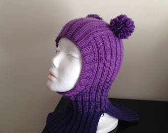 SALE!!!!   Kids Het. Kids Knits  4 - 6  years 100 % Hand Knitted Hat Unisex.Сap-helmet Alpaca wool , Merino wool