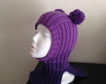 SALE!!!!   Kids Het. Kids Knits  4 - 6  years 100 % Hand Knitted Hat Unisex.Сap-helmet Alpaca wool , Merino wool