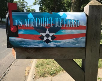 U.S. Air Force Retired! MailBox Cover, Mailbox Wrap.