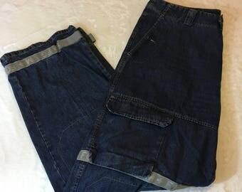 Vintage 90's Marithe Francois Girbaud Men's Wide Leg Jeans Size 42