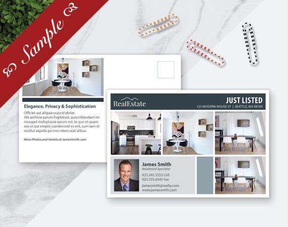 SAMPLE Real Estate Postcard Template Marketing Template