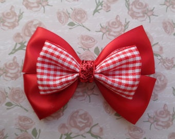 Little Red Riding Hood Bow | Little Red Riding Hood Inspired | Fairy Tale Inspired Hair Bows