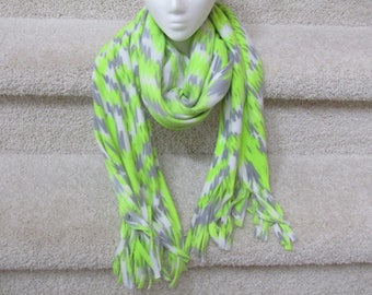 Lime Green Fleece Scarf
