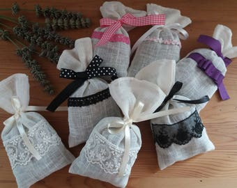Lavender sachet to gently scent the cabinets or home