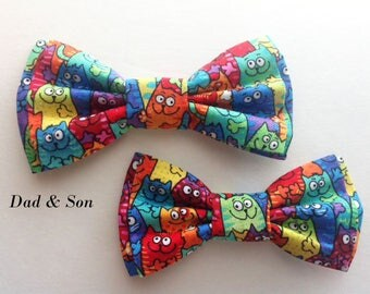 Bow Tie,Dad and Son Bow Ties, Cats Bow Tie, Mens Bow Tie, Bowtie,Father Son Bow Ties, Groomsmen Bow Tie, Bowtie, Boys Bow Tie, Gift  DS731
