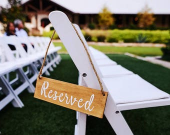 Reserved Signs, Wedding Signs, Custom Signs, Custom Wedding Sign, Wood Sign, Reserved Wedding Sign