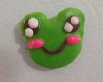 Polymer Clay Frog Magnet