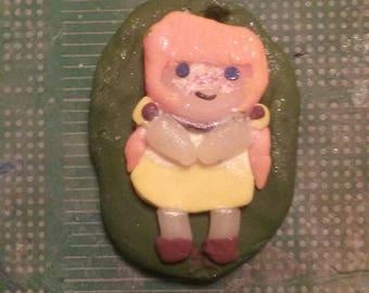 Ginger Mori Girl Polymer Clay Charm