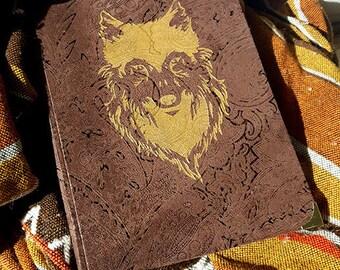 Handmade a4 notebook - wolf sigil