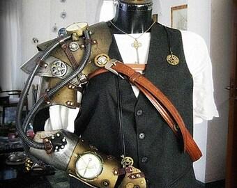 Steampunk armor arm Cosplay