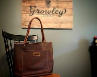 Leather Tote Bag, Leather Tote, Brown Leather Tote, Leather Tote Handbag, Leather Tote With Pockets, Tote Bag