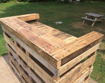 Reclaimed wood bar restaurant counter community rustic custom for Local reclaimed wood