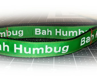 Bah Humbug Adjustable Buckle Collar