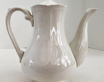 Vintage Harmony House Ironstone 4238 Federalist Coffee/Teapot