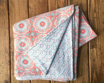Hippie and Fun Baby Girl Flannel Blanket