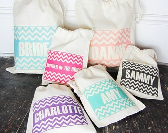 Personalised Party And Occasion Bits Bags - zig zag party bag