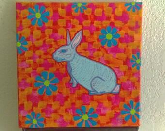 Groovy bunny original art