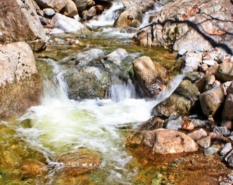 Rocky Waters, matted photograph, original color print