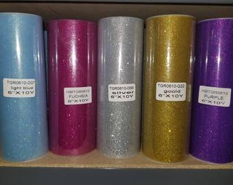 "6"" Glitter Tulle Ribbon"