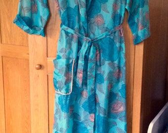 Vintage Dressing Gown Robe 1970s