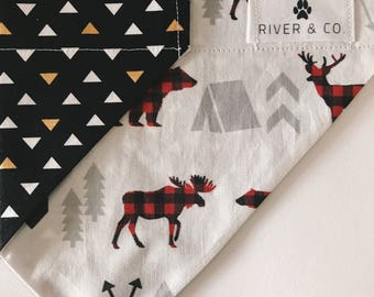 Moose | Reversible Dog Bandana