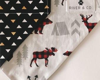 Moose | Reversible Dog Bandana
