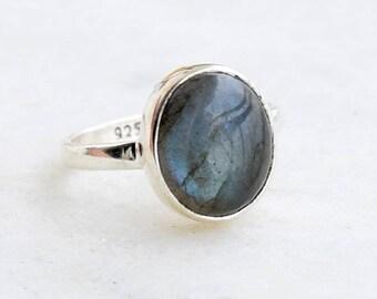 Labradorite Ring, Labradorite Stone Ring, Silver Ring,Sterling Silver Ring