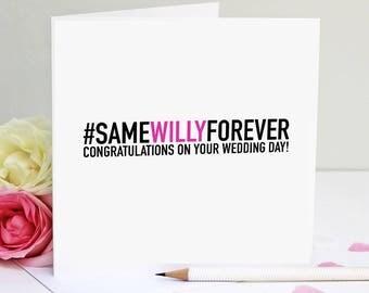 Wedding Card - Handmade Wedding Card - Funny Wedding -Rude Wedding Card
