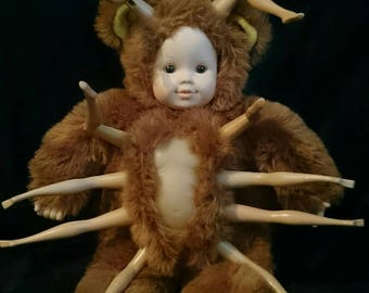 Creepy Baby/Teddy bear/Bug Doll