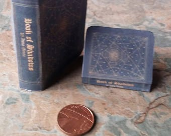Book of Shadows, Miniature Book Of Shadows, Handmade Minitures, Dolls Accessories, Miniture Accessories, Dolls Houses,Dollhouse,Spell Book