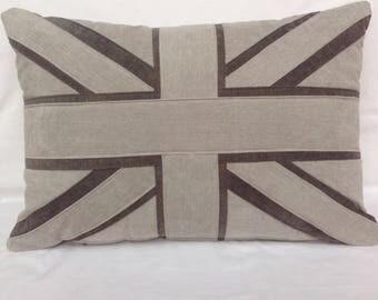 Velvety Union Jack cushion