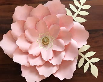 SVG Petal #21 Paper Flower Template with Base, DIGITAL file for Cutting Machines Such as Cricut and Silhouette Cameo
