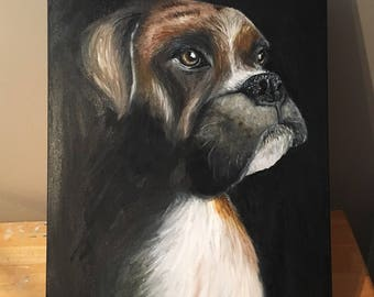 BOXER 16x20 oil on canvas