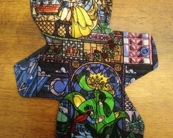 "9"" Beauty and The Beast Stained Glass Cloth Pad"