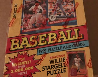 Vintage 1991 DonRuss Unopened Baseball Cards
