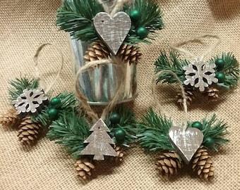 Christmas pinecone ornaments  - Christmas Ornaments  - Christmas decorations  - ornaments  - Christmas gift  - pinecones  - decorations
