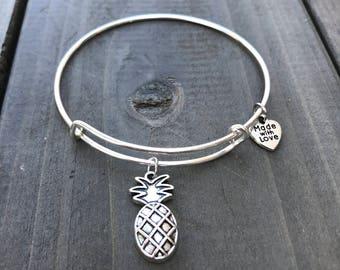 Pineapple bangle, Summer, bangle, gift