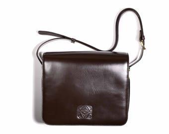 Vintage LOEWE Brown Leather Handbag