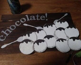 chocolate bar sign
