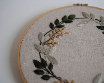 embroidery, Embroidery hoops, Handmade home decor, floral, personalised, flower embroidery hoop art