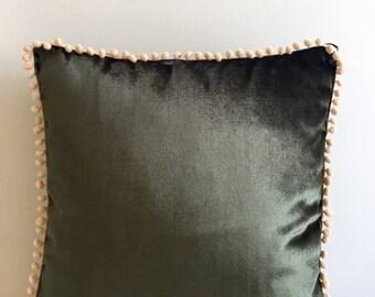 Dark Green Velvet Pillow CoverPillow Velvet18X18 Dark Green Pillow Designer Pillow Velvet Pillows Velvet CushionCover Dark Green SofaPillow